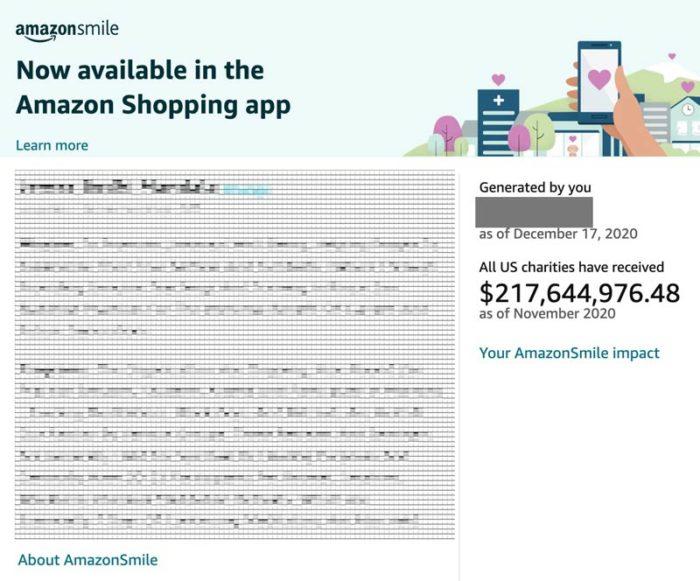 AmazonSmile information page